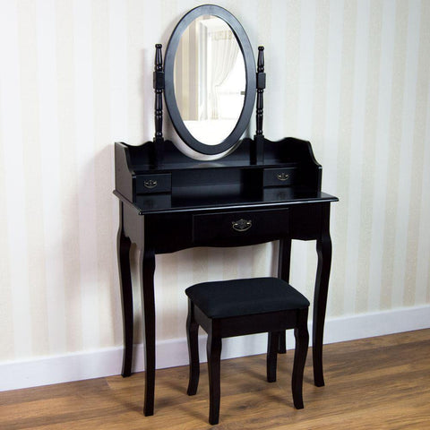 Black Vintage Chic Dressing Table