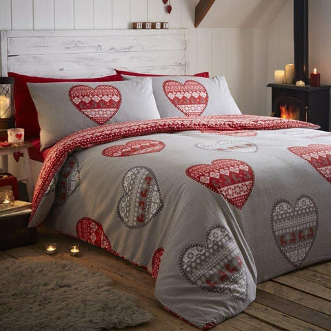 100% Cotton Heart Duvet Set
