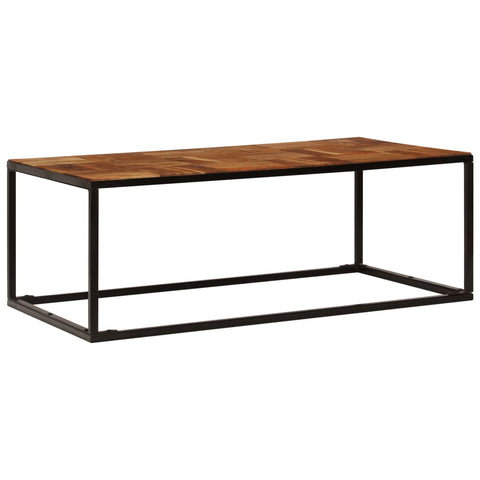 Solid Acacia Wood and Steel Coffee Table