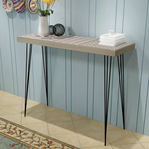 Grey Aztec Console Table