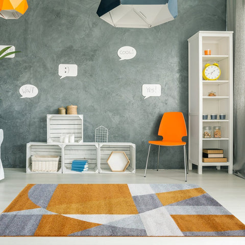 Orange Abstract Rio Rug