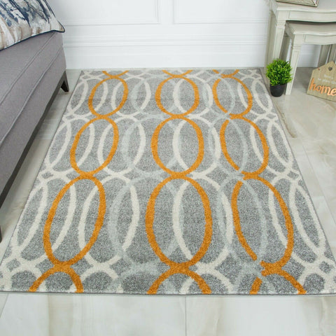Grey Interlocking Loops Rug