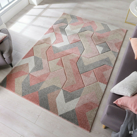 Dusty Pink Arrow Thick Rug