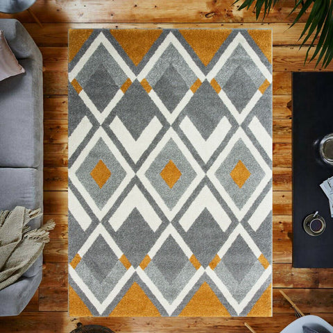 Grey & Orange Fresco Rug