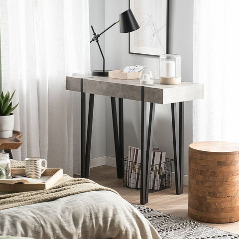 Light Grey Metal Hairpin Console Table