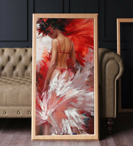 Samba Dancer Oil Painting