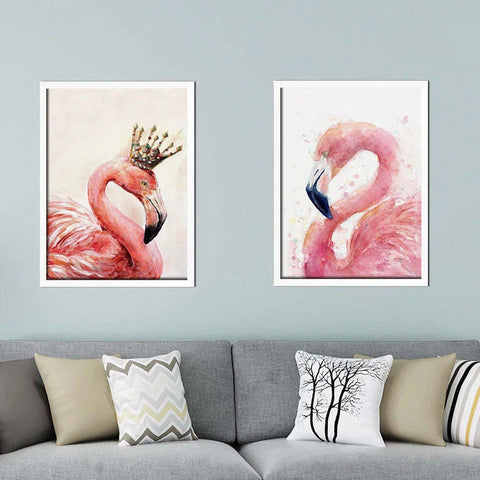 Pair of Flamingo Paintings