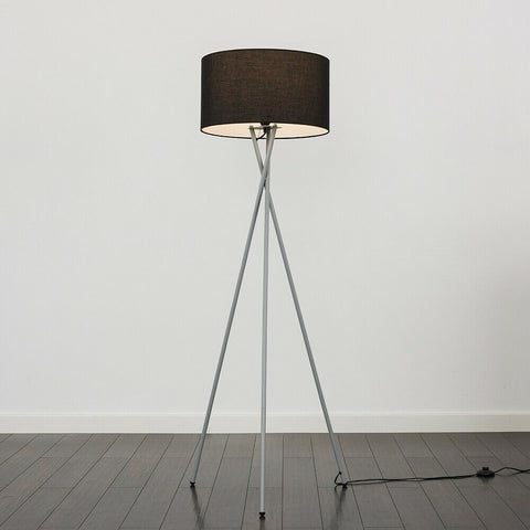 Tall Tripod Lamp with Fabric Shades