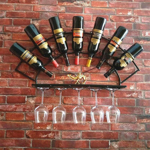 Cast Iron Wine Rack