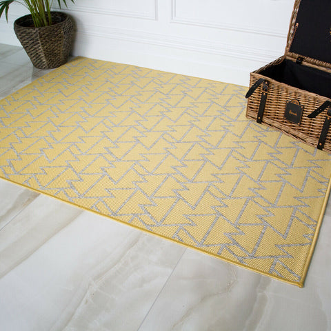 Yellow Flying Tri Rug