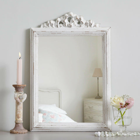 Parisian Antique White Mirror
