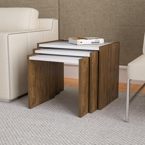 Set of 3 Wooden Coffee Nesting Tables