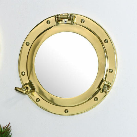Nautical Metal Porthole Wall Mirror