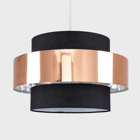 Black & Copper Light Shade