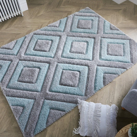 Duck Egg Parker Diamond Rug