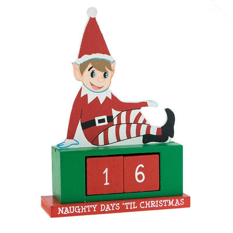 Wooden Elf Advent Calendar