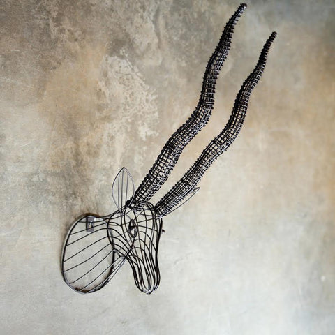 Industrial Wire Antelope Head
