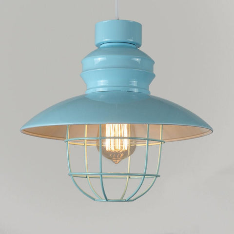 Coloured Caged Light Shade