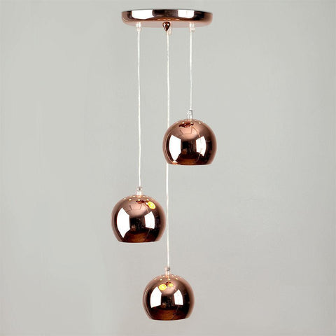 3 Way Copper Droplet Light