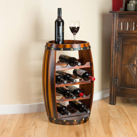 Oak Barrel Wine Cabinet