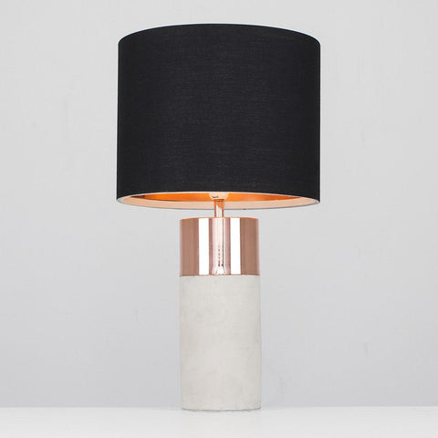 Cement & Copper Lamp