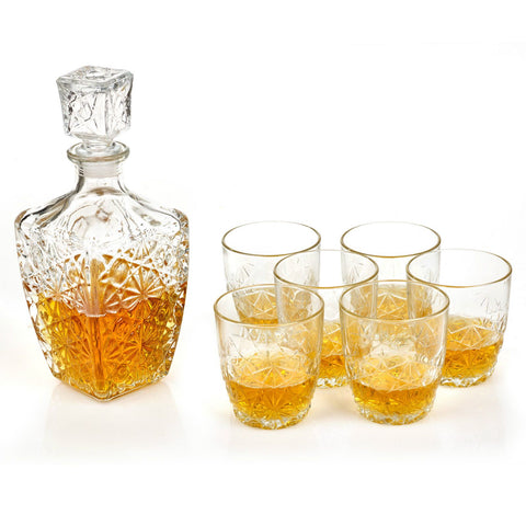 Italian Whisky Decanter & Glasses Set
