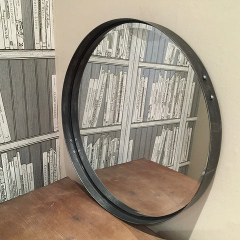 Large Industrial Circular Mirror