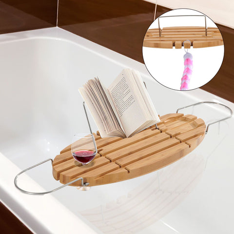 Bath Tub Wine & Book Tray