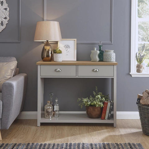 Grey Console Hall Table
