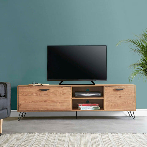 Large Oak TV Unit