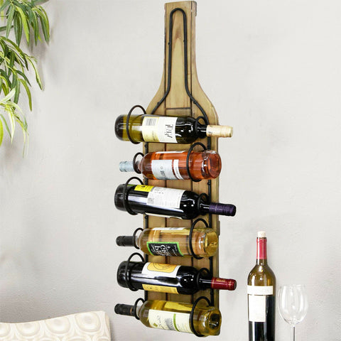 Wooden Wall Mounted Wine Rack