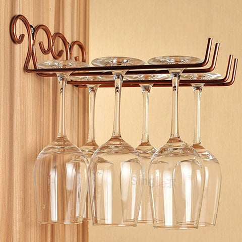 Bronze Stainless Steel Wine Glass Rack