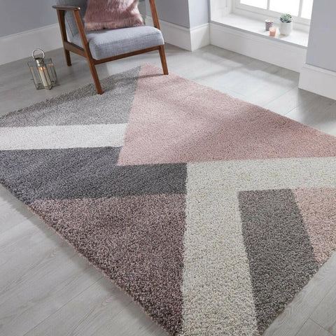 Multi Pink Soft Shaggy Rug