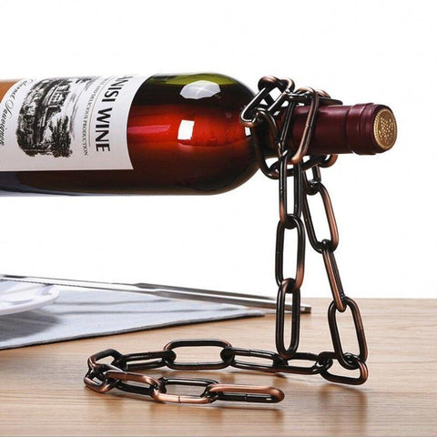 Bronze Chain Wine Bottle Holder