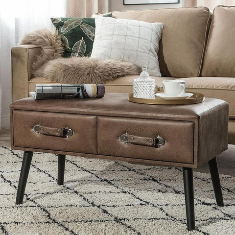 Leather Suitcase Coffee Table