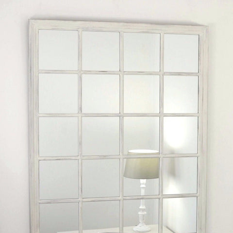Large White Shabby Chic Wall Mirror