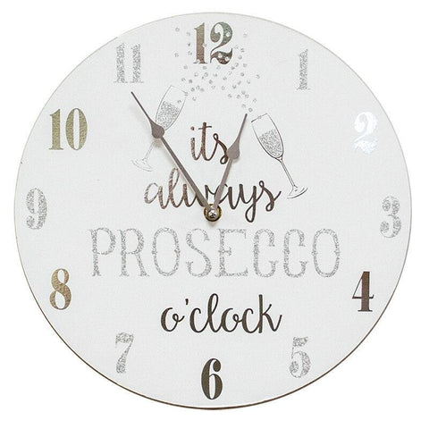 It's Always Prosecco O'Clock Retro Clock