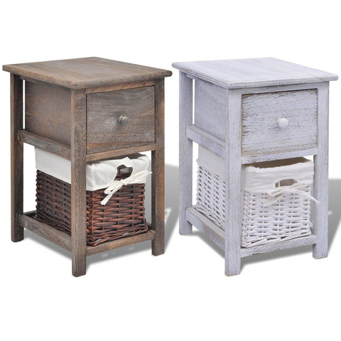 Wooden Shabby Chic Bedside Cabinet