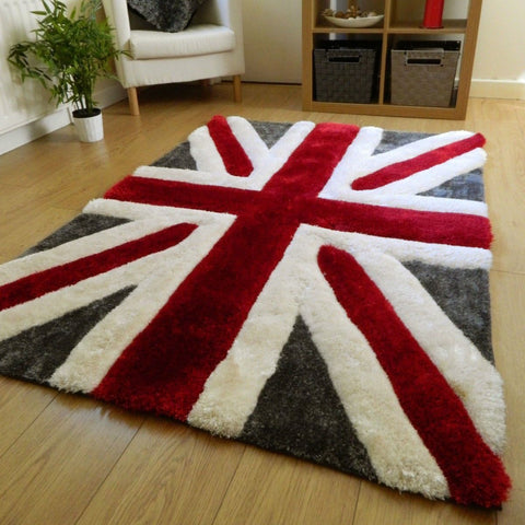 3D Shaggy Union Jack Rug