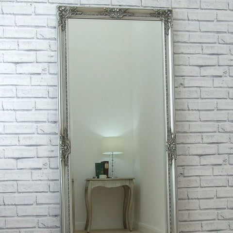 Large Full Length Silver Mirror - 157cm x 68cm