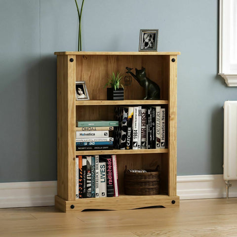 Solid Pine Wood Bookcase