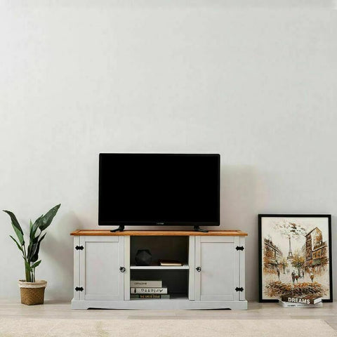 Pale Grey TV Cabinet