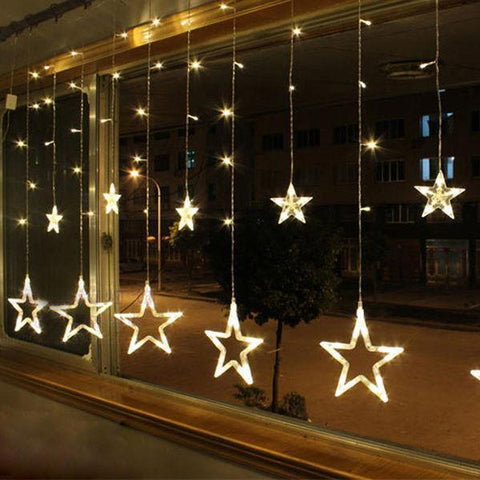 Christmas Star Fairy Light Curtain