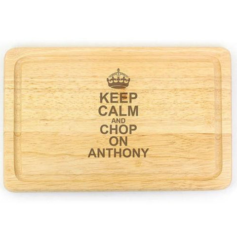 Keep Calm & Chop On Personalised Chopping Board