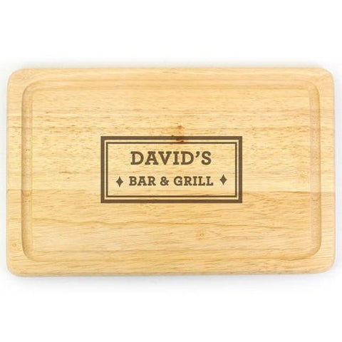 Bar & Grill Personalised Chopping Board