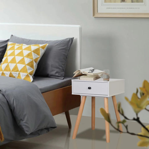 Set of 2 Solid Pinewood Bedside Tables