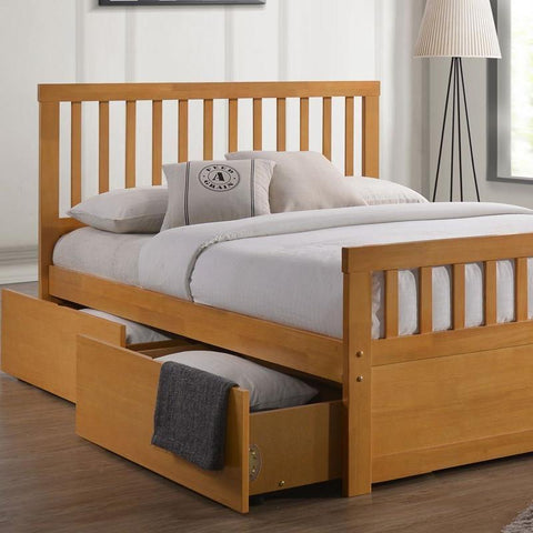 Kent Wooden Storage Bed Frame - Double/King