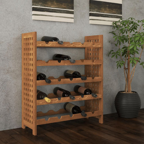 25 Wine Bottle Walnut Storage Rack