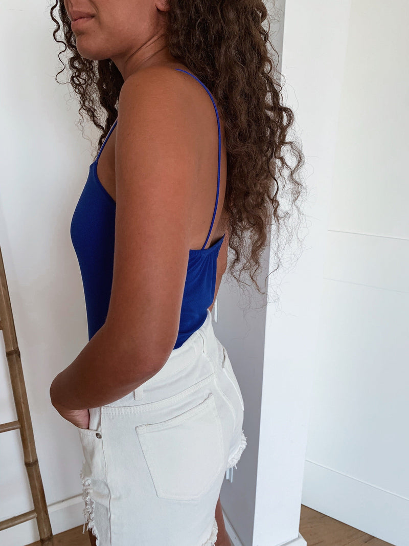 BODY WITH SQUARE NECK IN ROYAL BLUE - Top - Shop Fashion at LE TRÉ