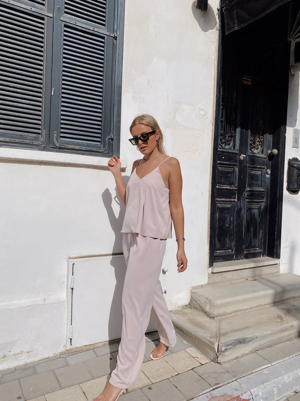CAMI TOP AND WIDE LEG TROUSER SET - Set - Shop Fashion at LE TRÉ